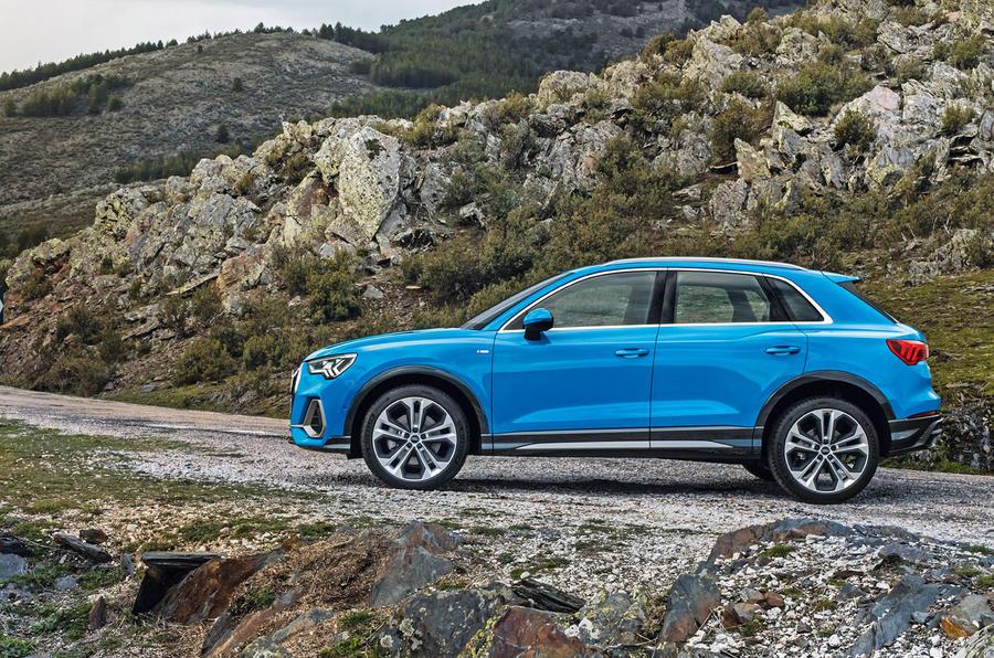 Audi Q3 side profile shot