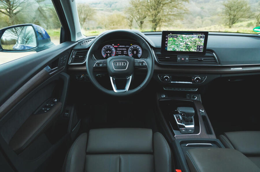 Tableau de bord de l'Audi Q5 Sportback