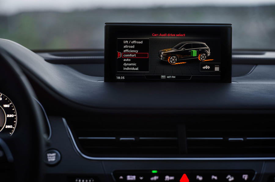Audi Q7 e-tron MMI infotainment