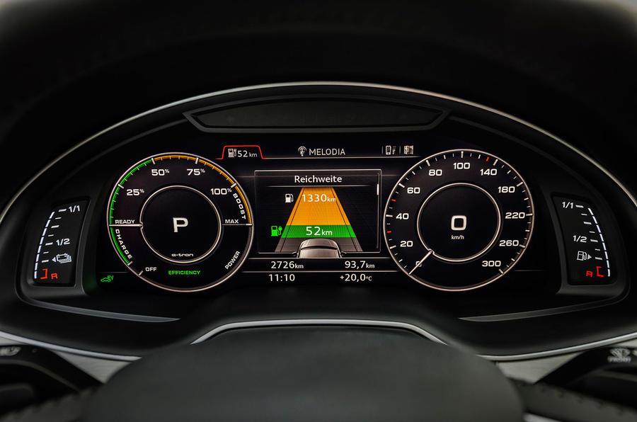 Audi Q7 e-tron vitrual cockpit
