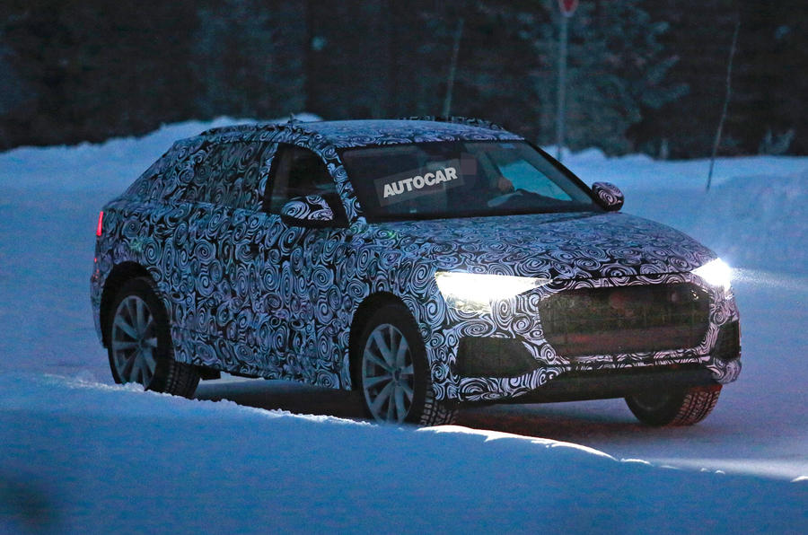 2018 audi q8. wonderful audi 2018 audi q8 flagship suv spotted testing in scandinavia throughout audi q8