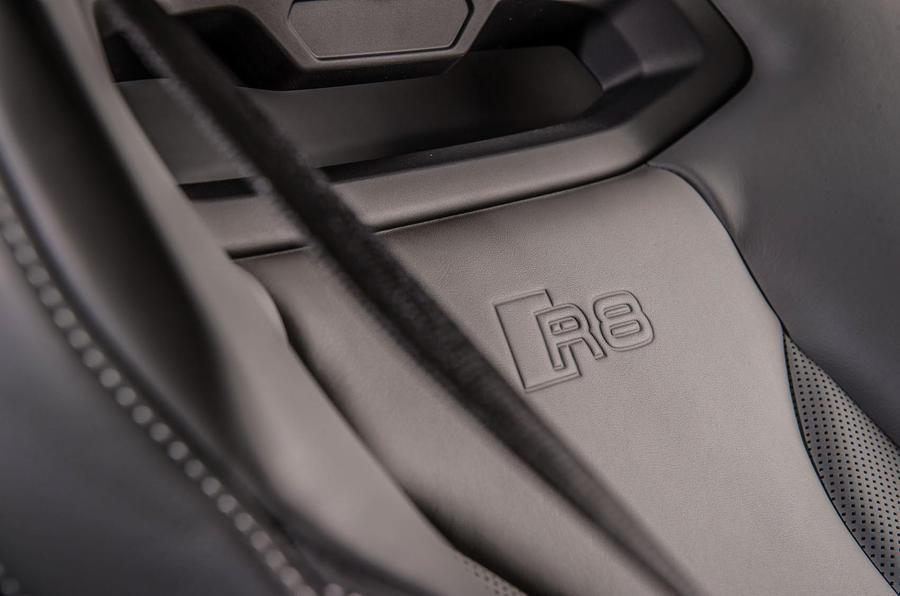 Audi R8 stitched seats