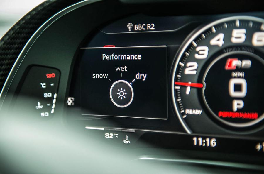 Audi R8 dynamic controls