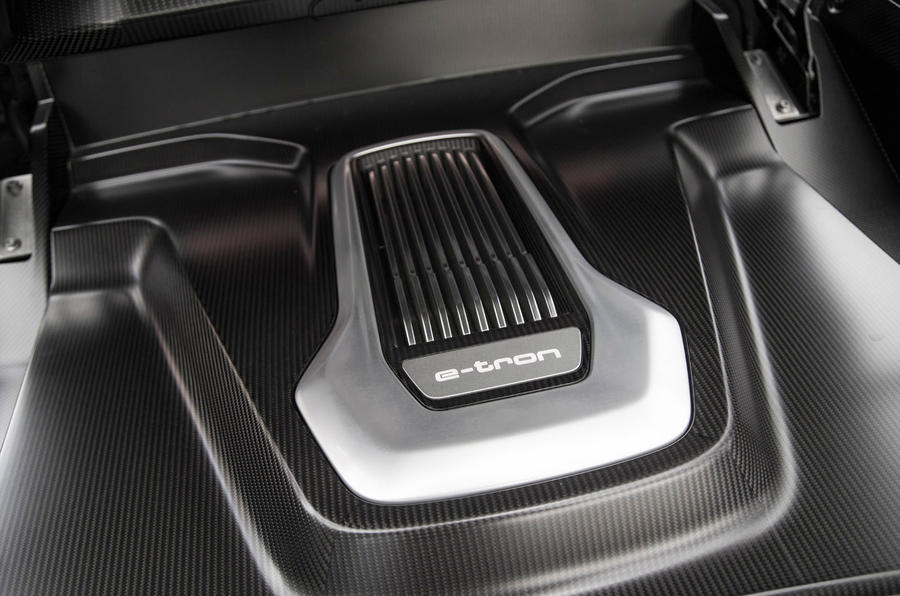 Audi R8 e-tron engine bay