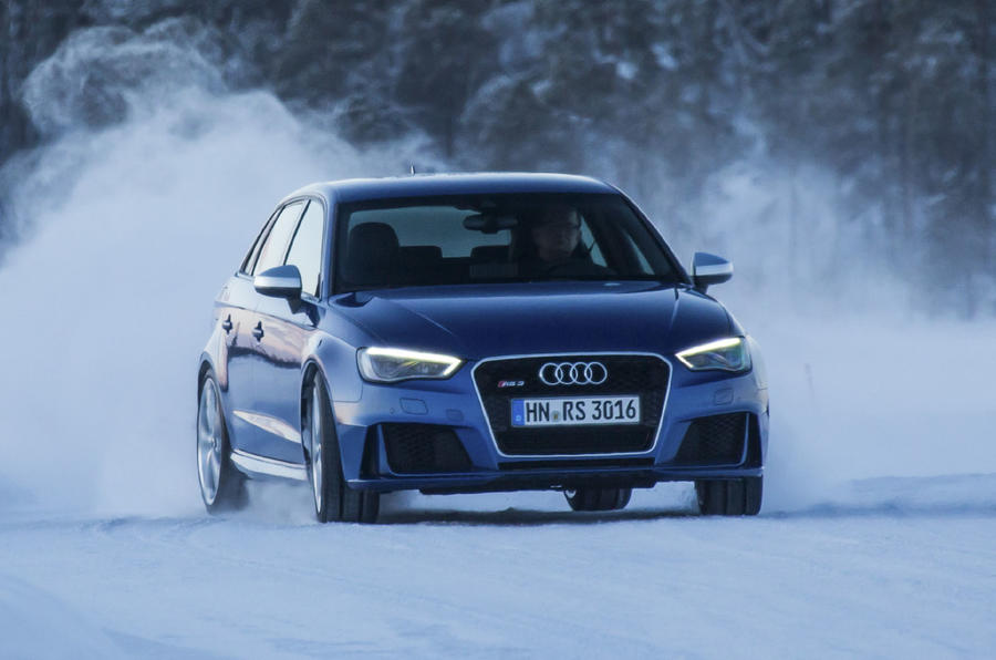 Audi RS3 Sportback on snow