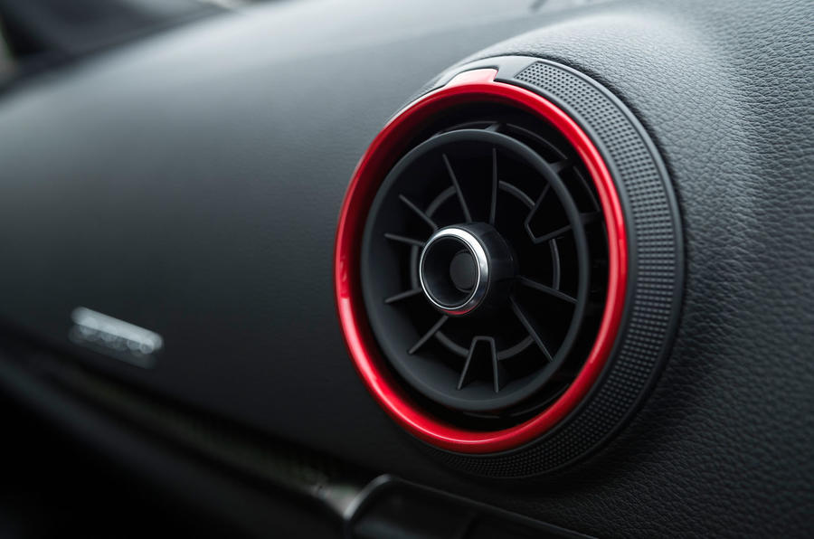 Audi RS3 saloon air vents