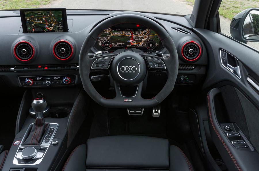 Audi RS3 saloon dashboard
