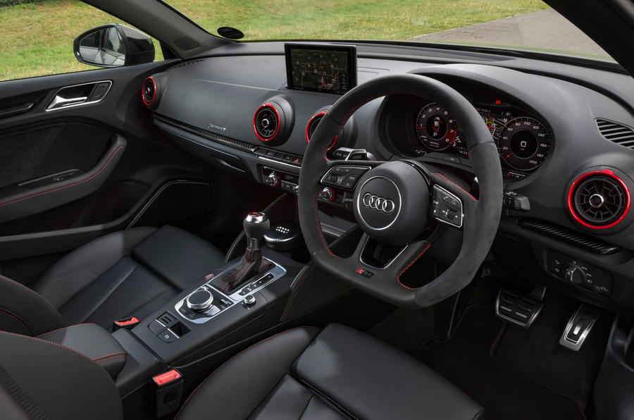 Audi RS3 saloon interior