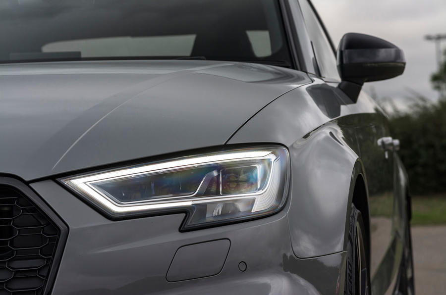 Audi RS3 saloon LED headlights