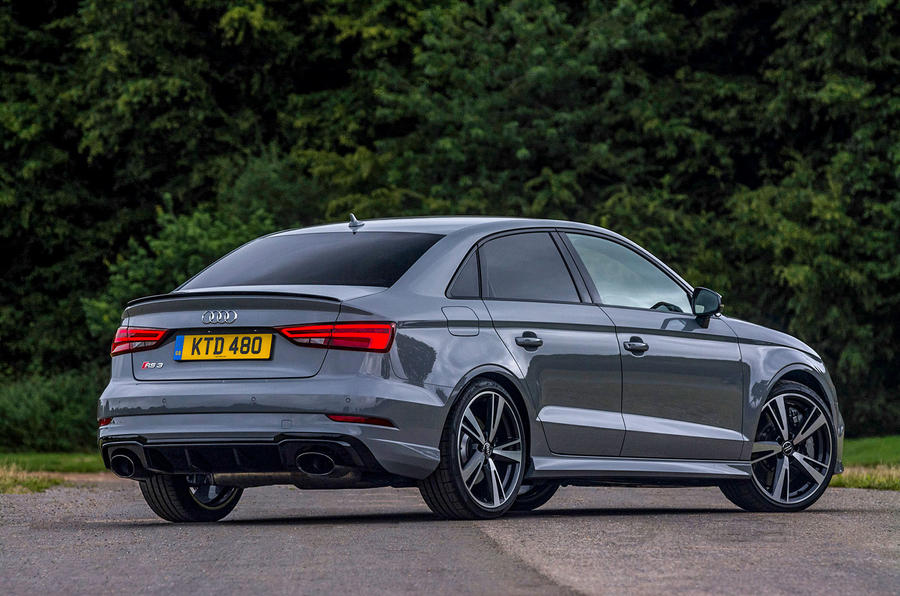Audi RS3 saloon rear profile