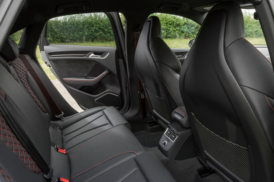 Audi RS3 saloon rear seats