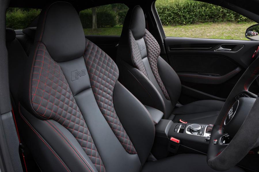 Audi RS3 saloon bucket seats