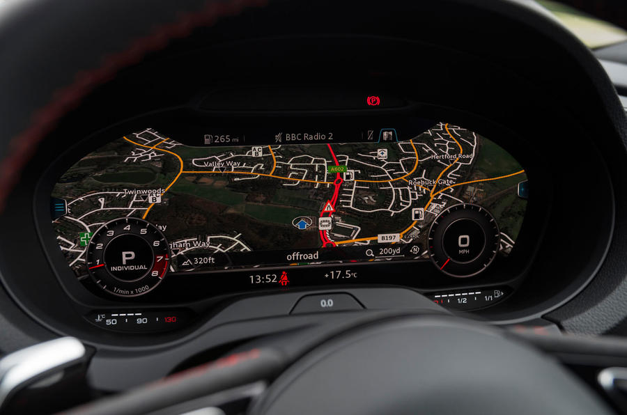 Audi RS3 saloon Virtual Cockpit