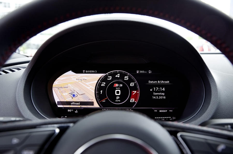 Audi S3 Saloon virtual cockpit