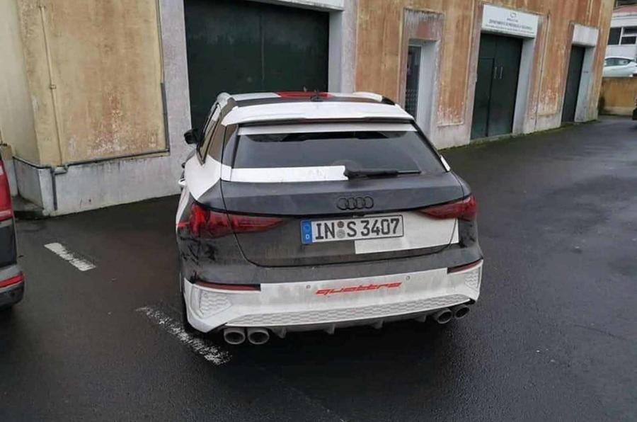 Audi S3 official disguise rear