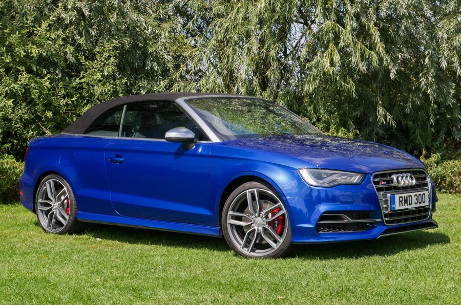 Audi S3 Cabriolet roof-up