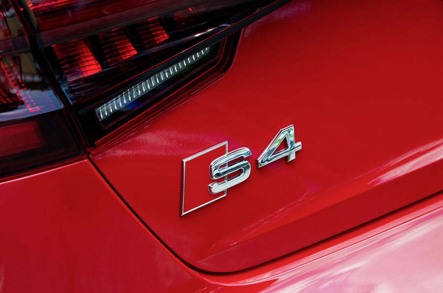 2017 Audi S4 saloon rear badge