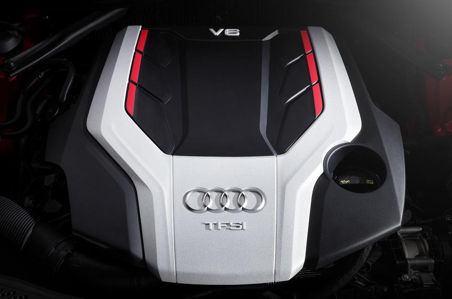 2017 Audi S4 saloon engine