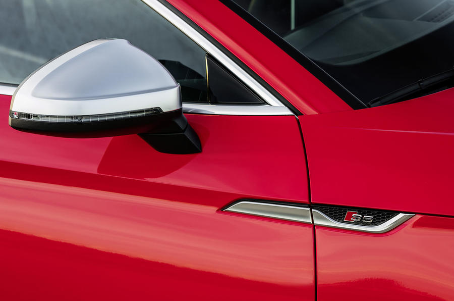 Audi S5 satin silver wing mirrors