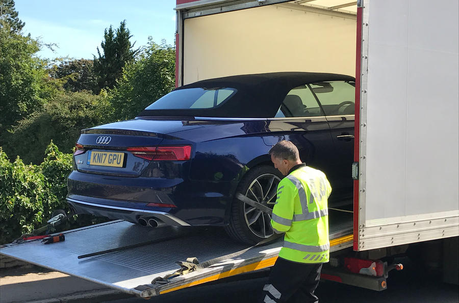 Packing the Audi S5 Cabriolet away
