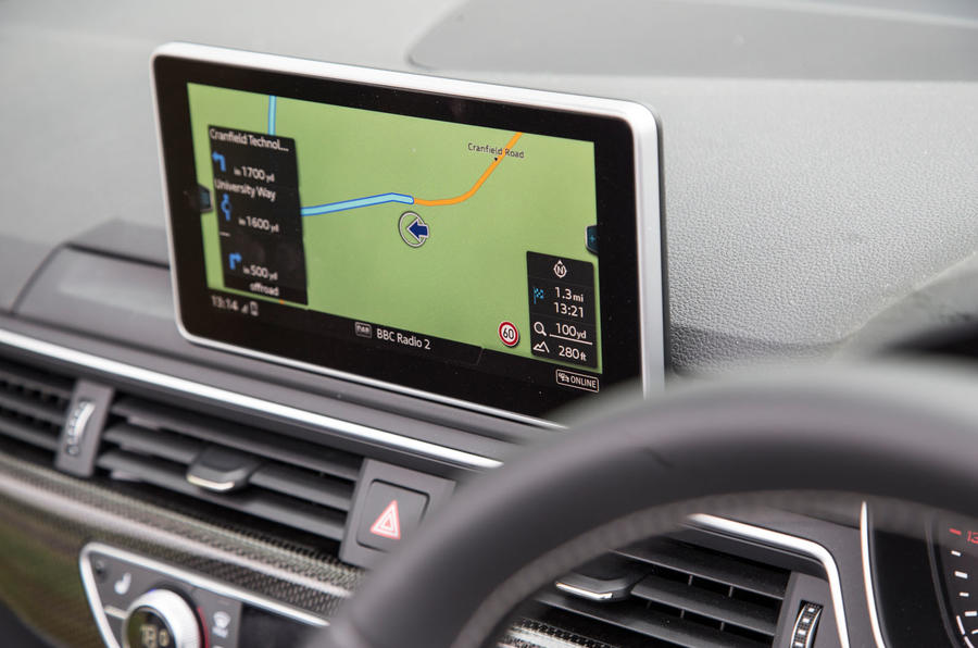 Audi S5 Cabriolet MMI infotainment system