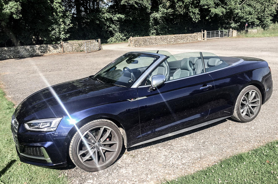 Audi S5 Cabriolet with its roof still down