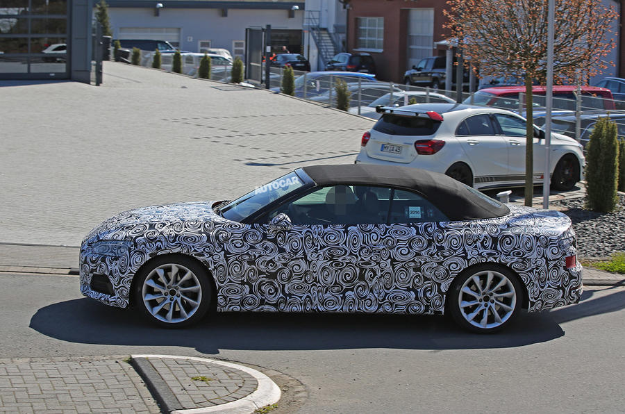 2017 Audi S5 Cabriolet - first spy pictures | Autocar Audi S Convertible Launch on nissan 370z convertible, audi a4, 135i convertible, audi s6, audi a 6 convertible, bmw convertible, audi s4 convertible, audi rs5 convertible, convertible convertible, audi s7, toyota fj cruiser convertible, audi s8, white audi convertible, audi a5, audi cars, audi tt convertible, audi a7, audi hardtop convertible, mini cooper convertible, audi r8,