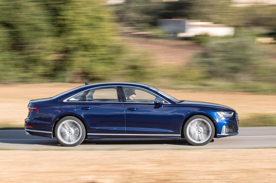 Audi S8 2019 first drive review - tracking side
