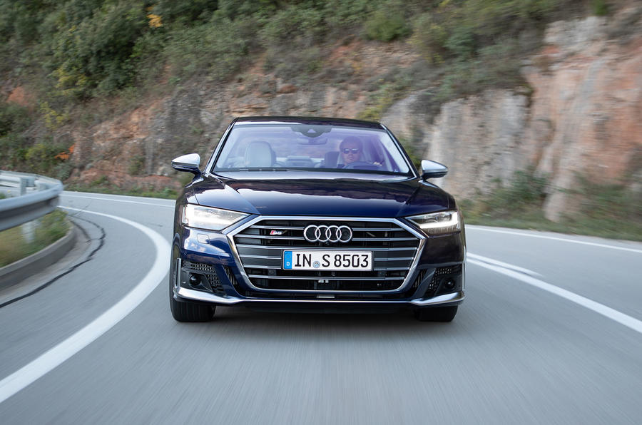 Audi S8 2019 first drive review - on the road nose