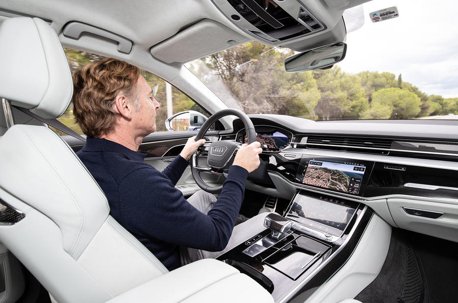 Audi S8 2019 first drive review - Greg Kable driving