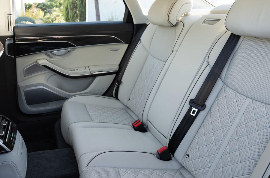 Audi S8 2019 first drive review - rear seats