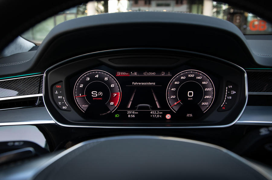 Audi S8 2019 first drive review - instruments