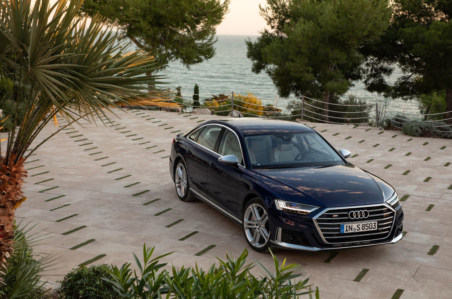 Audi S8 2019 first drive review - static front