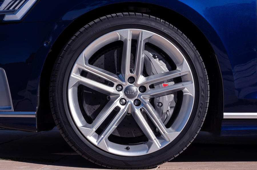 Audi S8 2019 first drive review - alloy wheels