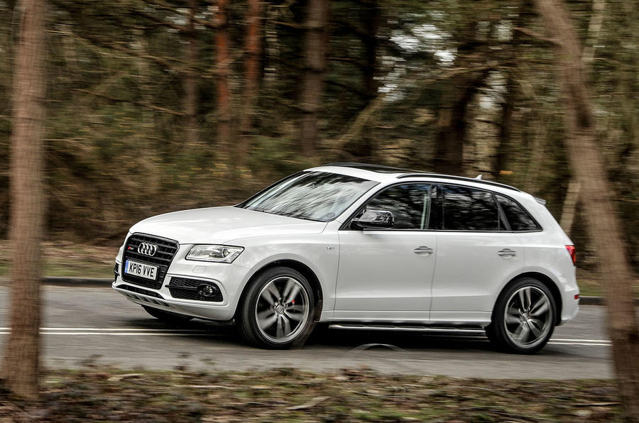 Audi SQ5 Plus 2016 UK review hero front
