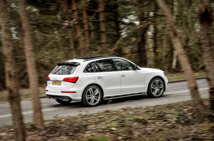 Audi SQ5 Plus 2016 UK review hero rear