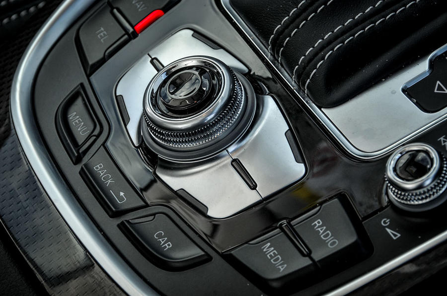 Audi SQ5 Plus 2016 UK review infotainment controls