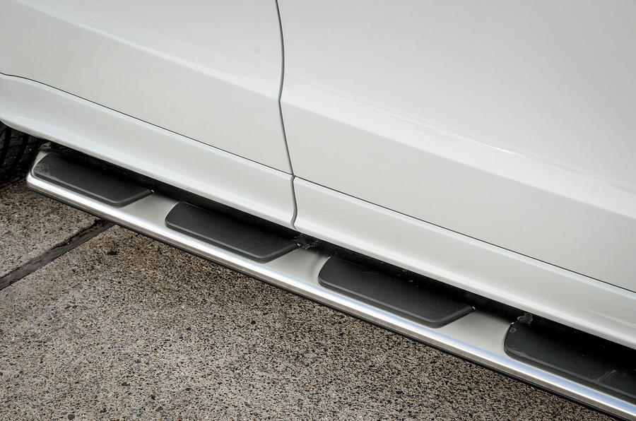 Audi SQ5 Plus 2016 UK review aluminium kick plates