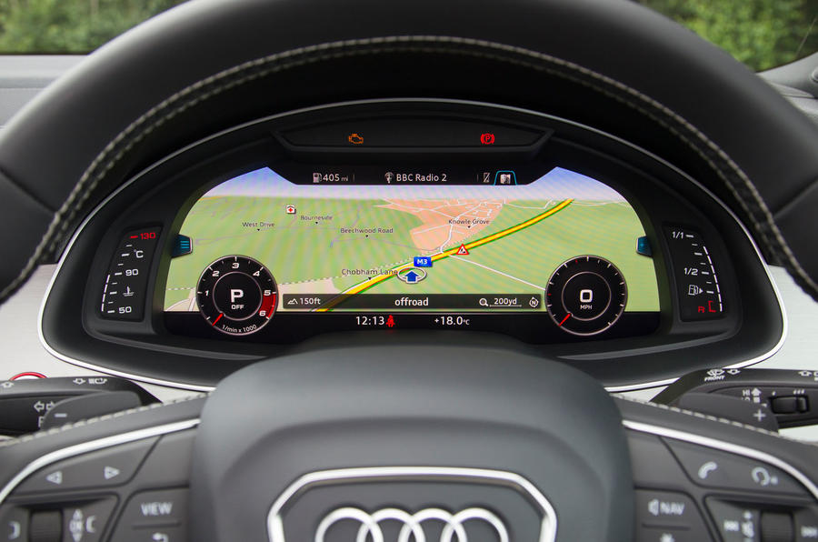 Audi SQ7 virtual cockpit