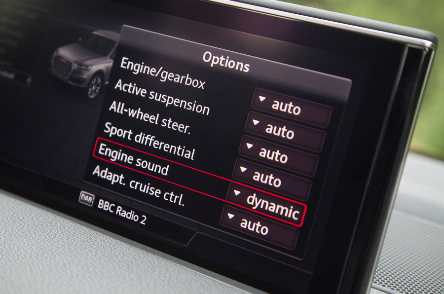 Audi SQ7 MMI infotainment