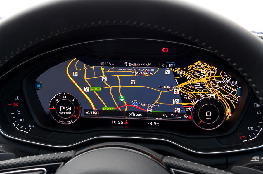 Audi A4 virtual cockpit screen