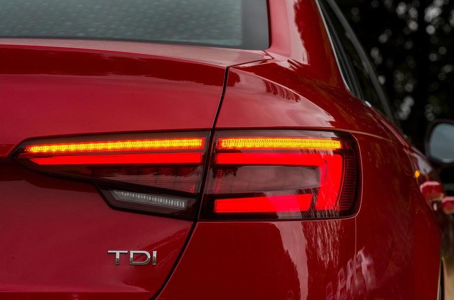 Audi A4 rear LED lights