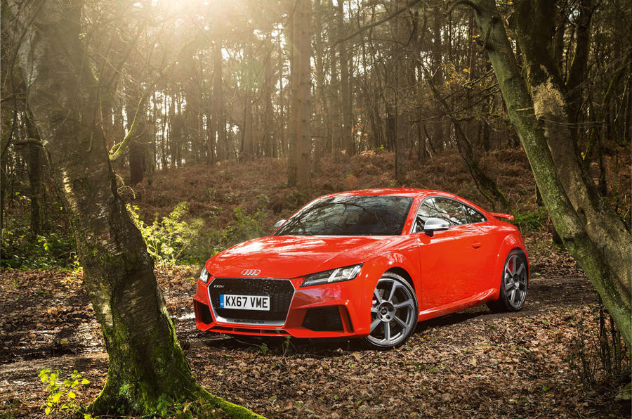 Audi TT RS Coupé in the woods