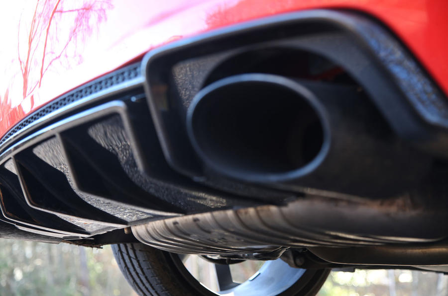 Audi TT RS Coupé sports exhaust