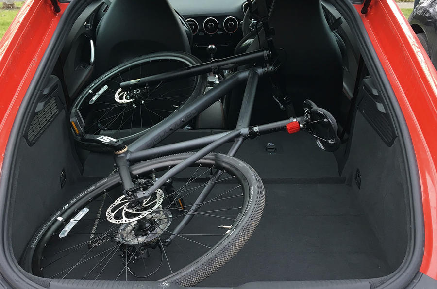 Audi TT RS Coupe longterm review bike in boot