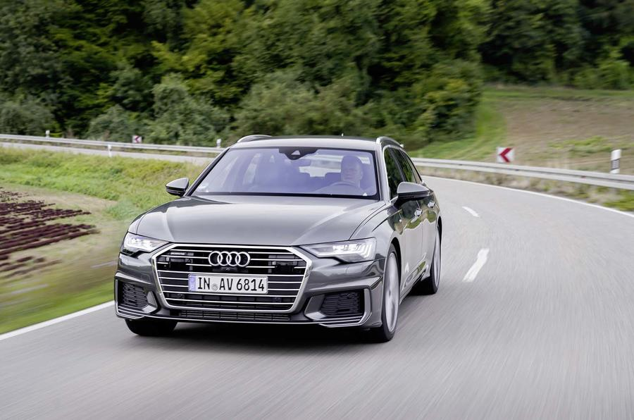 Audi A6 Avant 2018 first drive review on the road front