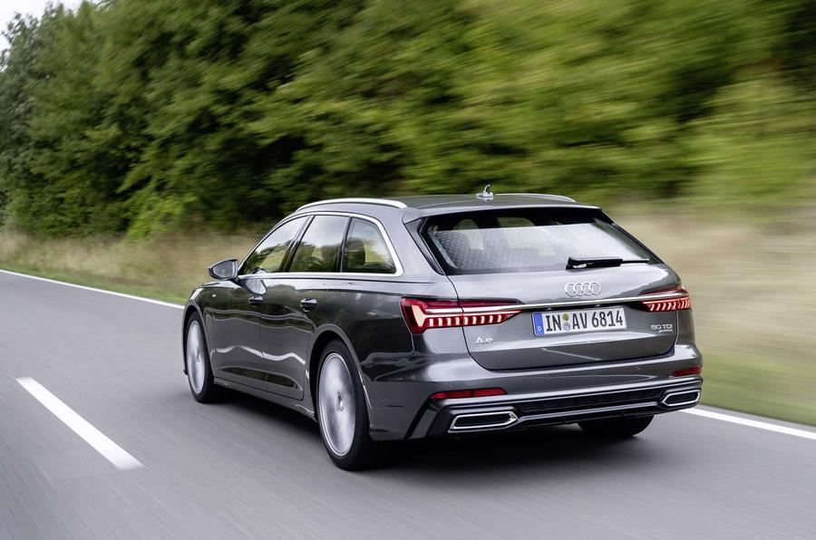 Audi A6 Avant 2018 first drive review hero rear