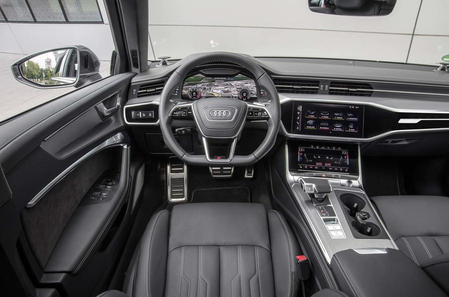 Audi A6 Avant 2018 first drive review dashboard