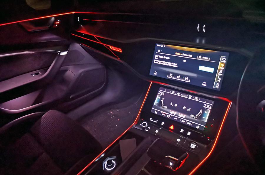 Audi A6 2018 long-term review - interior lighting