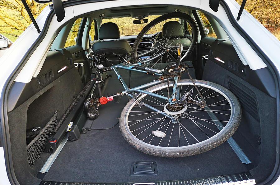 Audi A6 Avant 2019 long-term review - bike in rear